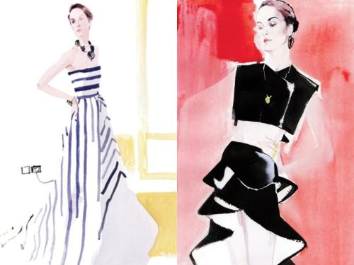 david downton illustration,actressmary dockerty.vanityfairjpeg